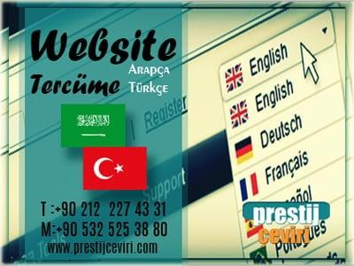 Arapça website tercümesi