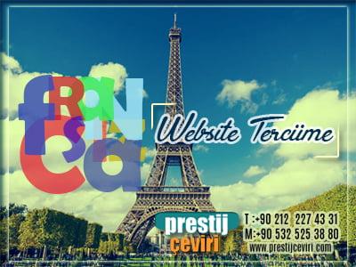 Fransızca website tercümesi
