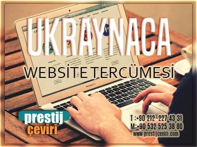 Ukraynaca website tercümesi