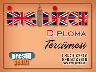 İngilizce Diploma tercümesi