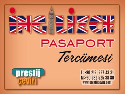 Türkçe İngilizce Pasaport Tercümesi